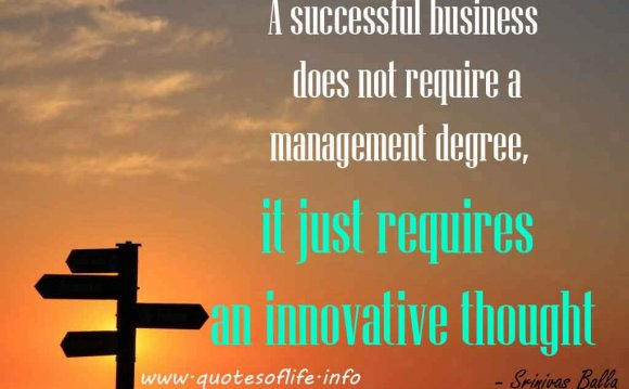 A successful business does not