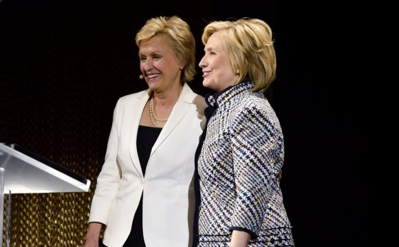 Tina Brown and Hillary Clinton