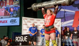 215lb log world record clean and press