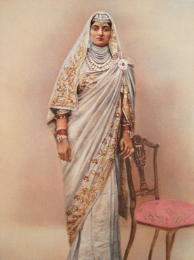 A portrait of Bibiji Bakhtavar Kaur. She did not like being photographed, but was very modern and social.