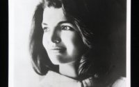 A rare autographed photograph of Jacqueline Kennedy Onassis.