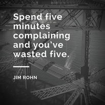 Jim Rohn Quote about complaining