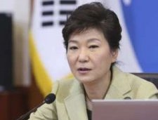 South Korean President Park Geun-hye speaks during a cabinet meeting at the Presidential Blue House in Seoul December 10,  2013 in this picture provided by Yonhap.