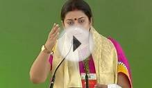 Smriti Irani at International Women's Conference 2014