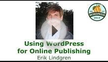 Using WordPress for Online Publishing