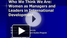Who We Think We Are: Women as Managers and Leaders in